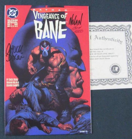 Vengeance of Bane #1 (1993) Key 1st Appearance Bane (2nd Print) Signed by Nolan & Dixon