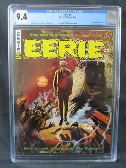 Eerie #9 (1967) Silver Age Warren Horror Beautiful CGC 9.4