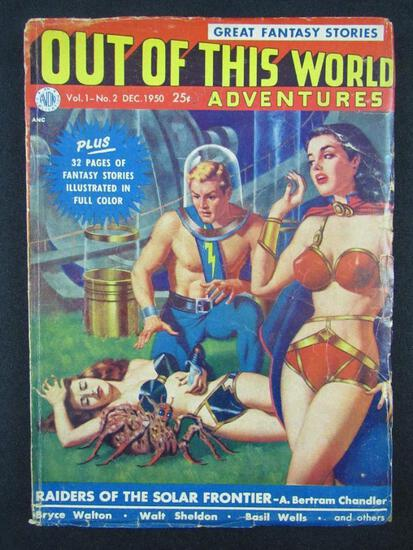 Out of this World Adventures #2 (1950) Golden Age Pin-up Sci Fi Pulp