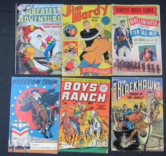 Mixed Golden Age Lot (6) Boys Ranch, Blackhawk+