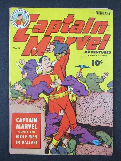 Captain Marvel Adventures #32 (1944) Golden Age Fawcett