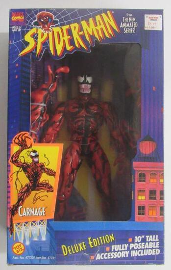 """Vintage 1994 Toybiz 10"""" Carnage Deluxe Figure Sealed MIB"""