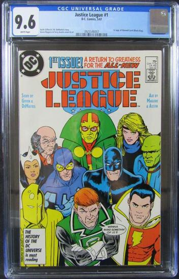 Justice League #1 (1987) Key 1st Issue/ 1st Maxwell Lord CGC 9.6