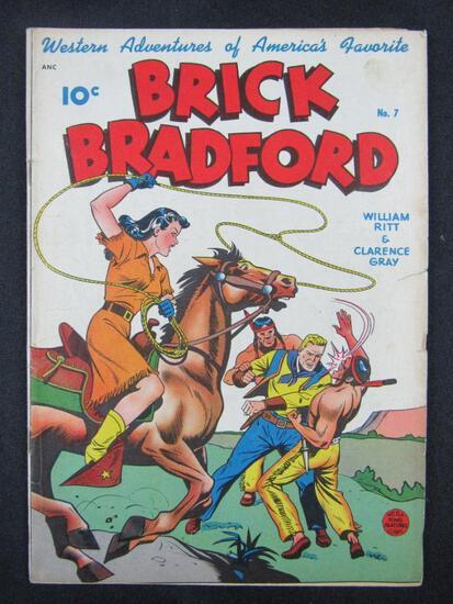 Brick Bradford #7 (1949) Golden Age Classic GGA Cover w/ Horse and Lasso