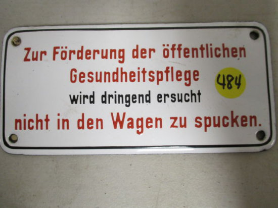 Ww2 Nazi Germany Porcelain Dash Board Sign 3x6