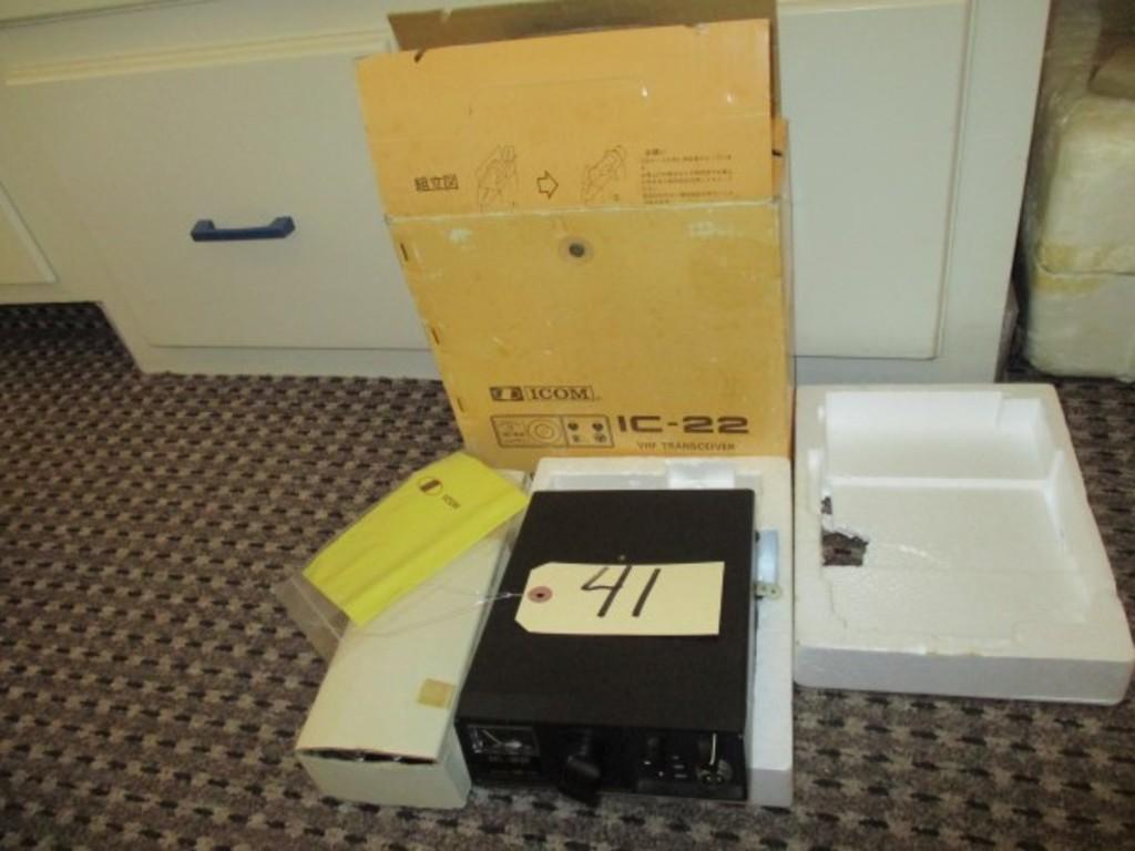 Lot: Icom Ic-22 Vhf Transceiver In Original Box   Proxibid
