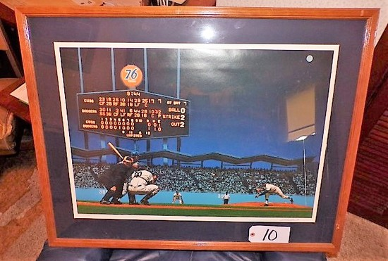 "Bill Purdom: ""Perfect Chavez Night"" 21 5/8""x29 5/8"" print - 35'x27.5"" w/ fr"