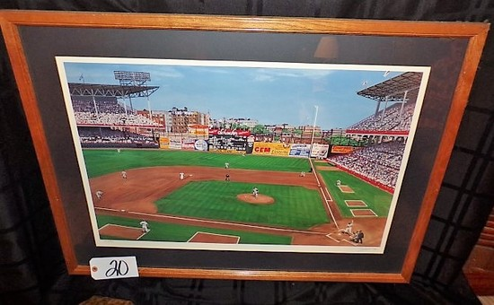 "Andy Jurinko: ""Aiming for Bedford (Ebbets Field)"" 21 5/8""x29 5/8"" print - 3"