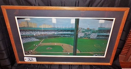 "Andy Jurinko: ""Polo Playoff Payoff"" 18""x33"" print - 38.5""x24' w/ frame. Bob"