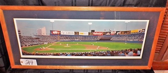 "Thomas Kolendra: ""Texas Twilight Heat"" 14""x36"" print - 41.5""x20"" w/ frame."