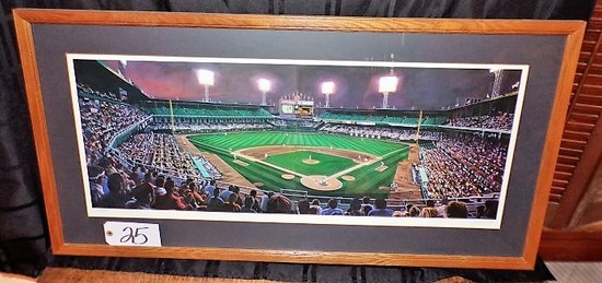 "Andy Jurinko: ""Comiskey Twilight Diptych""15.5""x36"" print - 41.5""x21.5"" w/ f"