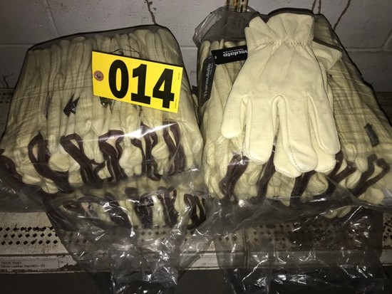 Lot of leather gloves