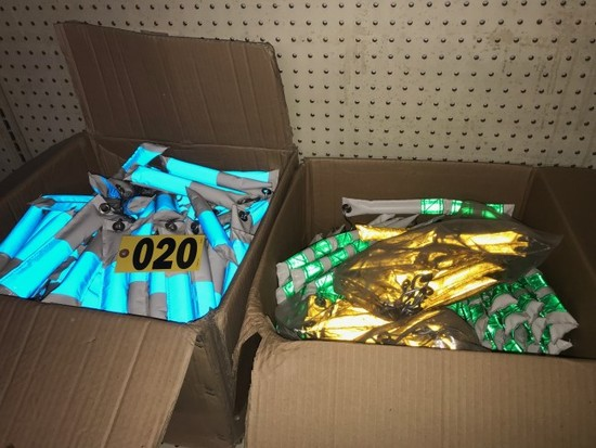 (2) Boxes Vinyl hanging flares