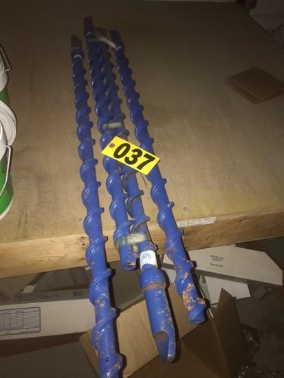"(4) 41"" drill bit augers"