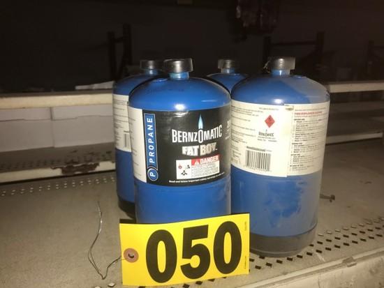 (4) Propane bottles