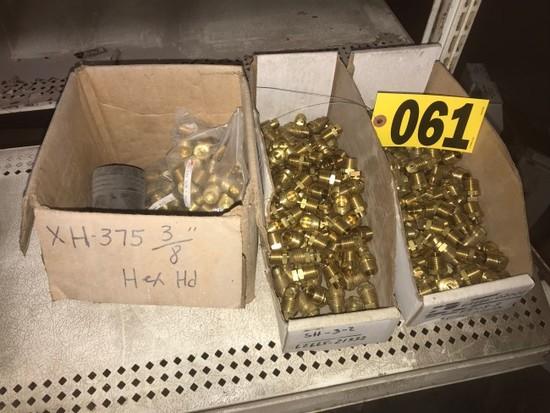 Assorted brass spray nozzles