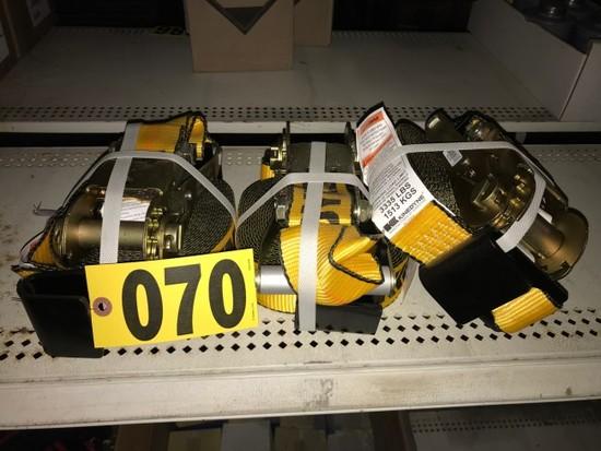 (3) Ratchet straps