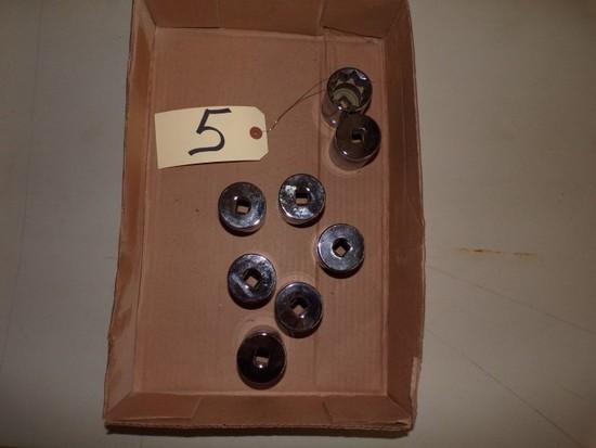 "Assorted new Williams 1 1/8"" sockets"