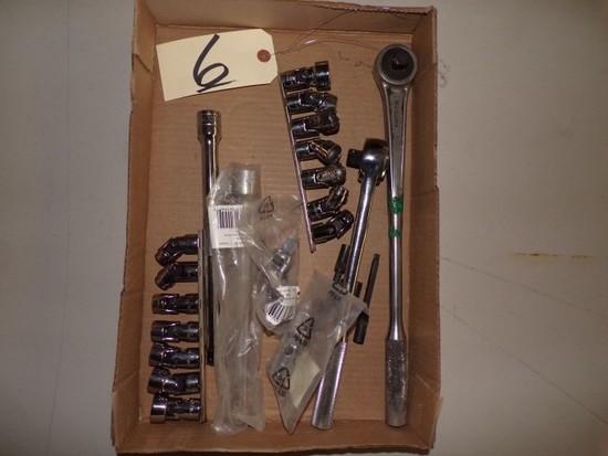 """New socket set & ratchet (swivel socket) 3/4"""""""