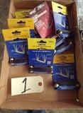 Assorted folding screwdriver set