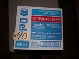 Case of 15W-40 oil