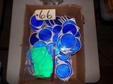 Blue reflective discs