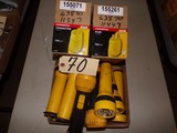 Flashlights & (2) Commercial elec. plugs