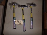 (3) Vaughan 20 oz. claw hammers (new)