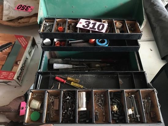 Metal toolbox & contents