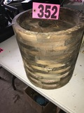 (1) Wood fly wheel