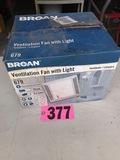 Broan ventilation fan & light