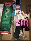 Spray gun clip & supplies