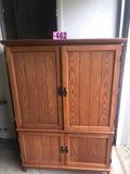 Wood entertainment cabinet 5'x42