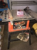 Black & Decker table saw & blade