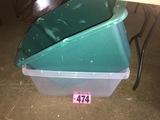 (2) Plastic tubs