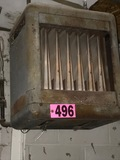 Janitorial gas heater hanging