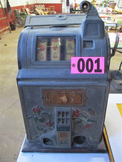 Mills Poinsetta 5 cent Slot Machine, January 17, 1922
