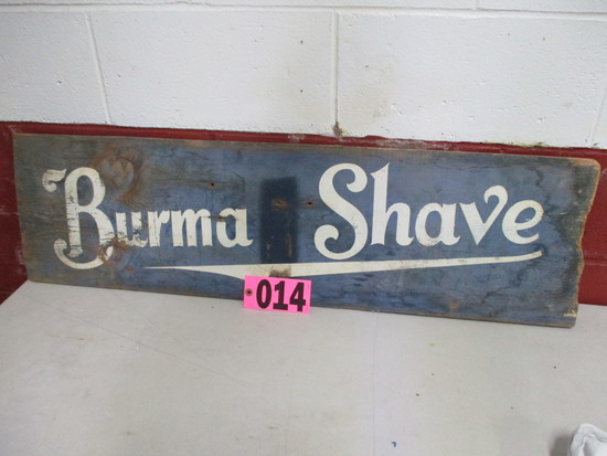 Wood vurmashade sign, 40in x 11.5in