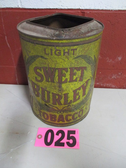 Sweet Burley Tobacco tin