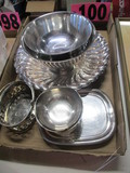(7) Silver plated serving dishes