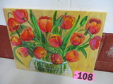 Spring Tulip oil on canvas, unframed, 20in x 16in, artist Isabel Culbertson