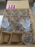 Box of 12 stemmed punch cups