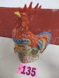 Porcelain Red Rooster