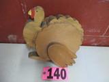 Wood turkey display