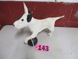 Wooden bulldog object art