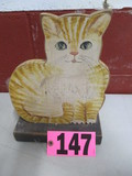 Wood cat cut out display