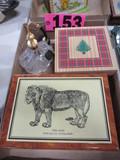 (2) Wood jewelry boxes & Victoria Secret perfume bottle