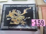 Oriental style ornate picture album w/ damage (no pictures)