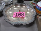 Silver plated single epergne 13.5in