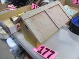 Wooden distressed bird house